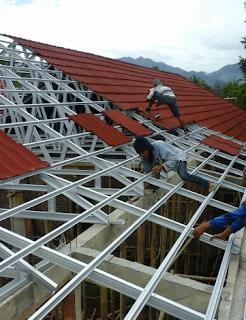 harga pasang rangka atap baja ringan,biaya jasa pemasangan rangka atap baja ringan