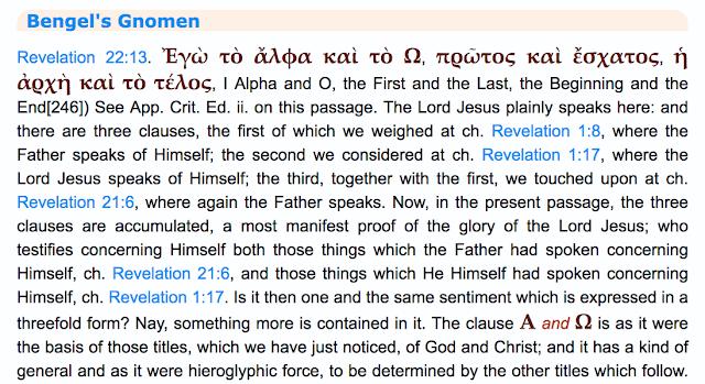 Bengel's Gnomen Revelation 22:13.