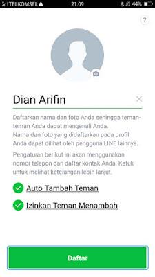 Mendaftar Aplikasi LINE 4