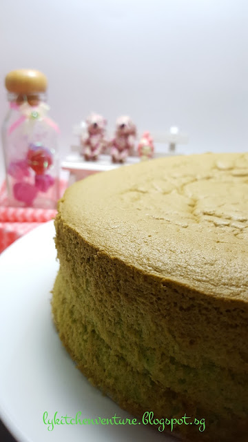Ly S Kitchen Ventures Pandan Sponge Cake Cooked Dough