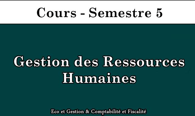Cours de gestion des ressources humaines