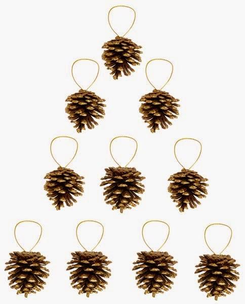 Decoración de piñas para Navidad de Primark