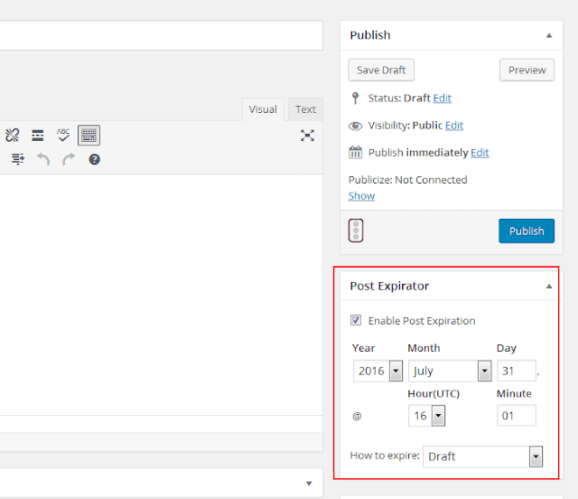 add post expire in WordPress