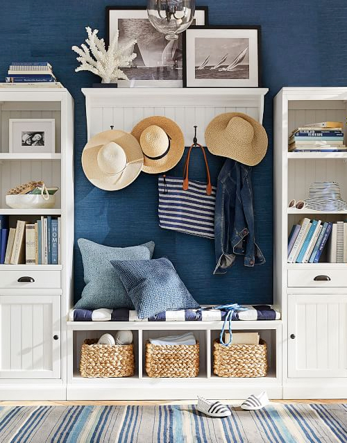 Coastal Style Entryway Storage Ideas & Solutions