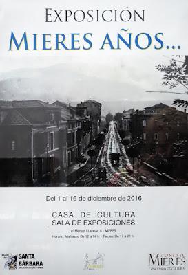 Cartel Exposición Mieres años...