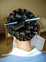 braided chinese bun photos extremely long hair