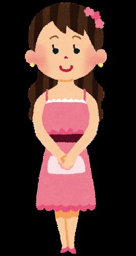 パーティドレスを着た女性のイラスト