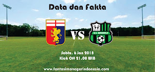 Data dan Fakta Liga Fantasia Serie A Genoa vs Sassuolo Fantasi Manager Indonesia