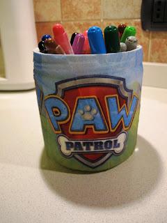 Portapenne Paw Patrol fai da te