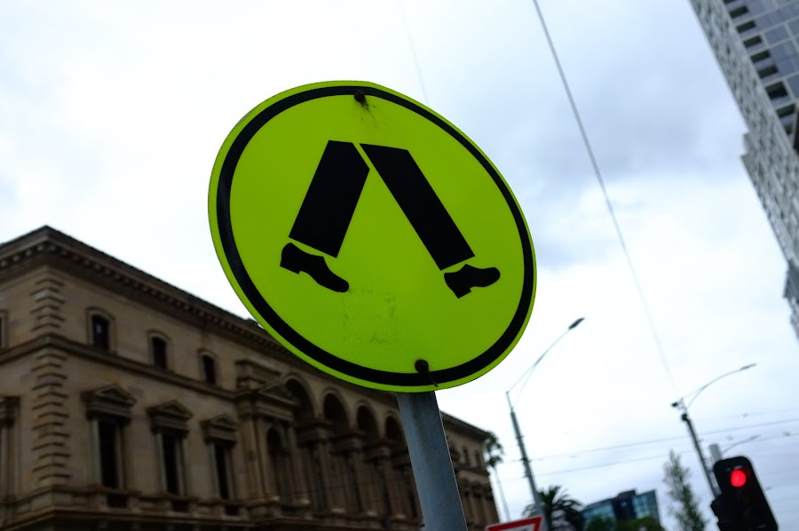 Melbourne street signs