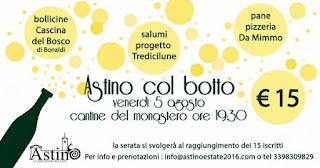 ASTINO col BOTTO 5 Agosto Bergamo (cantine del Monastero)