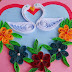 Quilled birds for greeting card
