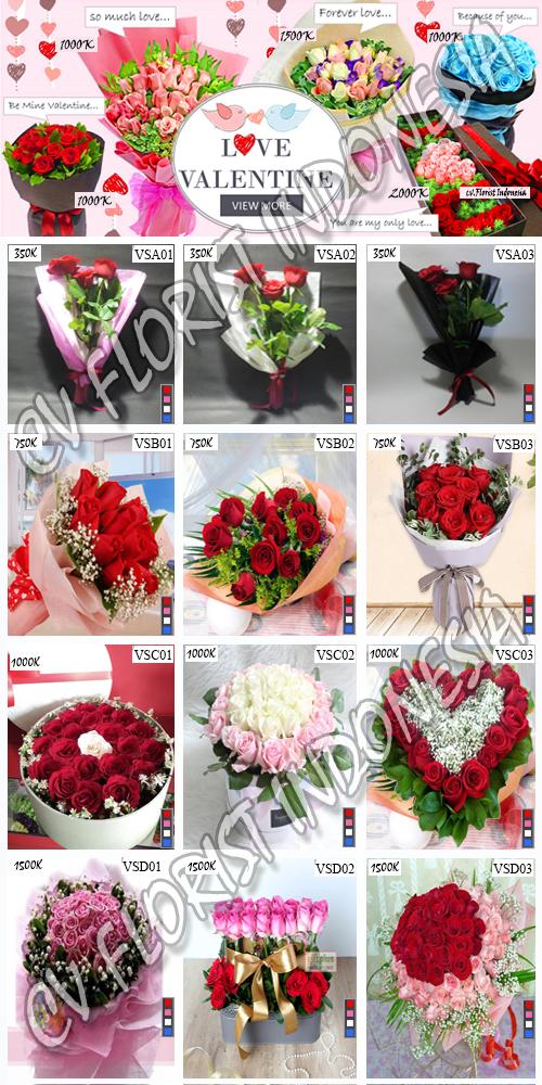 Toko Bunga Valentine di Tangerang 2018