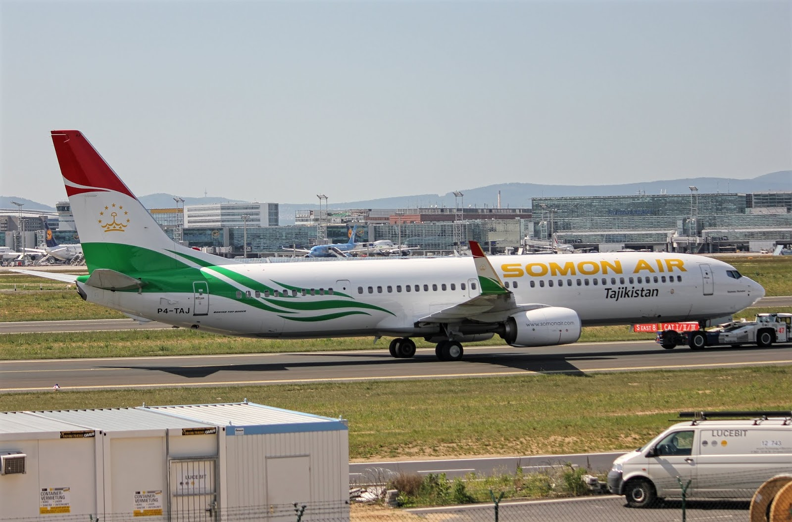 Boeing 737-900ER of Somon Air While Being Towed