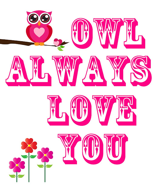 our house of pink diy owl print