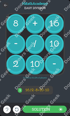 "Math Academy ""Easy Division"" cheats, walkthrough"