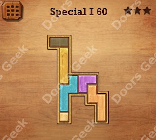 Cheats, Solutions, Walkthrough for Wood Block Puzzle Special I Level 60