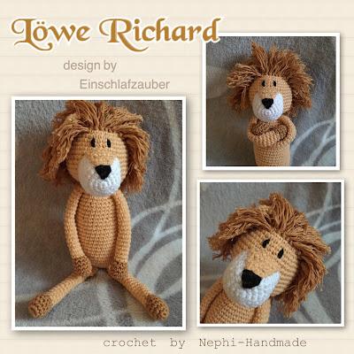 Nephi-Handmade: Löwe gehäkelt, crochet lion