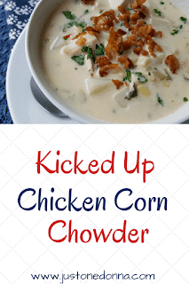 Kicked Up Chicken Corn Chowder