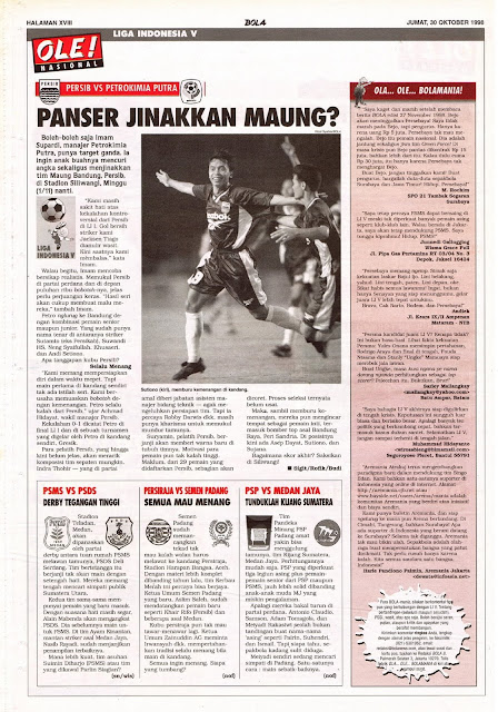 LIGA INDONESIA V 1998 PERSIB VS PETROKIMIA PUTRA