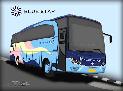 Disain Livery PO BLUE STAR