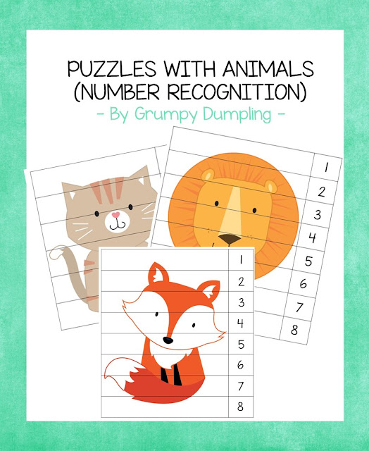 https://www.teacherspayteachers.com/Product/Puzzles-with-Animals-Number-Recognition-3308244