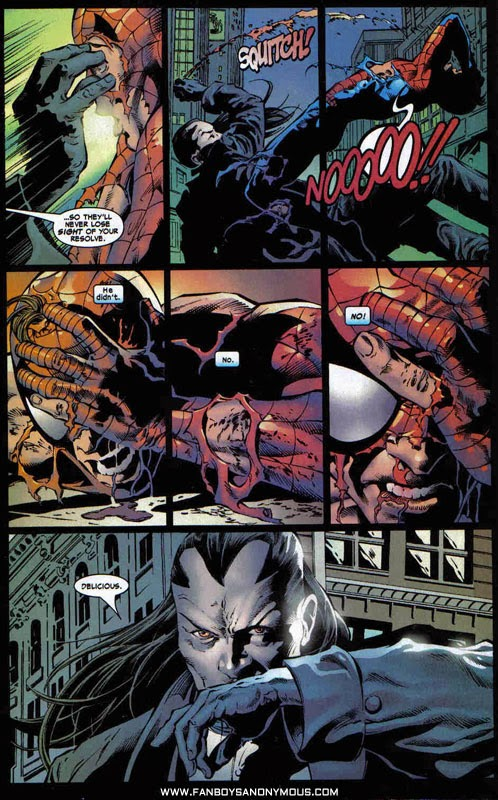 Amazing Spider-Man Morlun reference cameo scene
