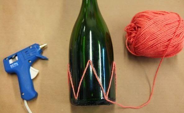 Manualidades con botellas de vidrio diy - Botellas decoradas manualidades ...
