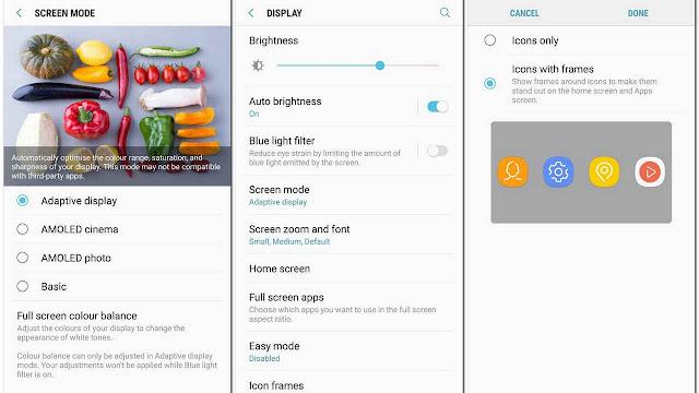 شاشة Samsung Galaxy A8