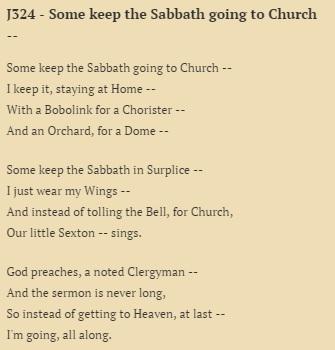 some keep the sabbath going to church analysis