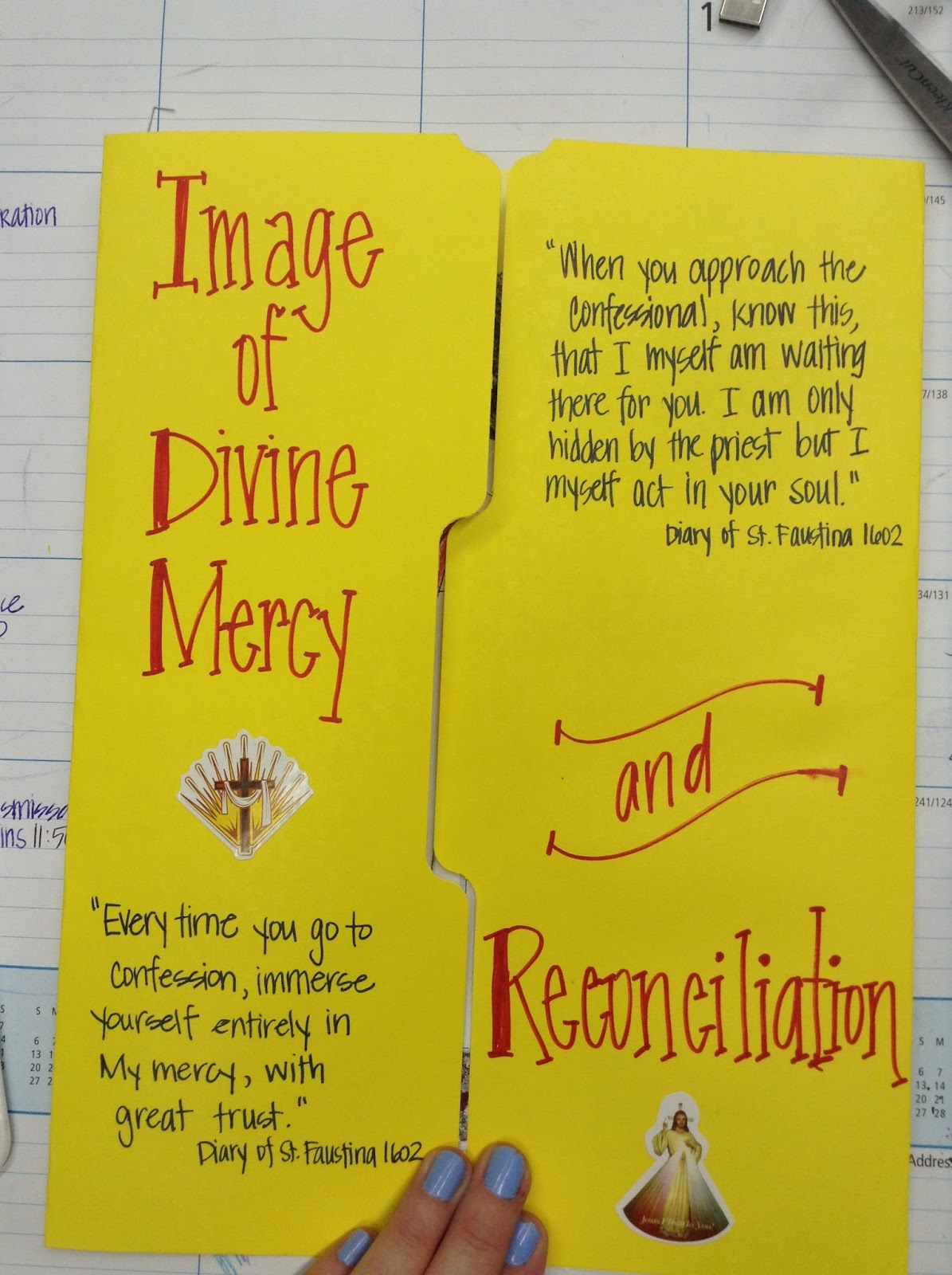 Look To Him And Be Radiant Divine Mercy And Reconciliation Lapbook