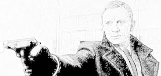 Daniel Craig James Bond coloring pages jamesbondreview.filminspector.com