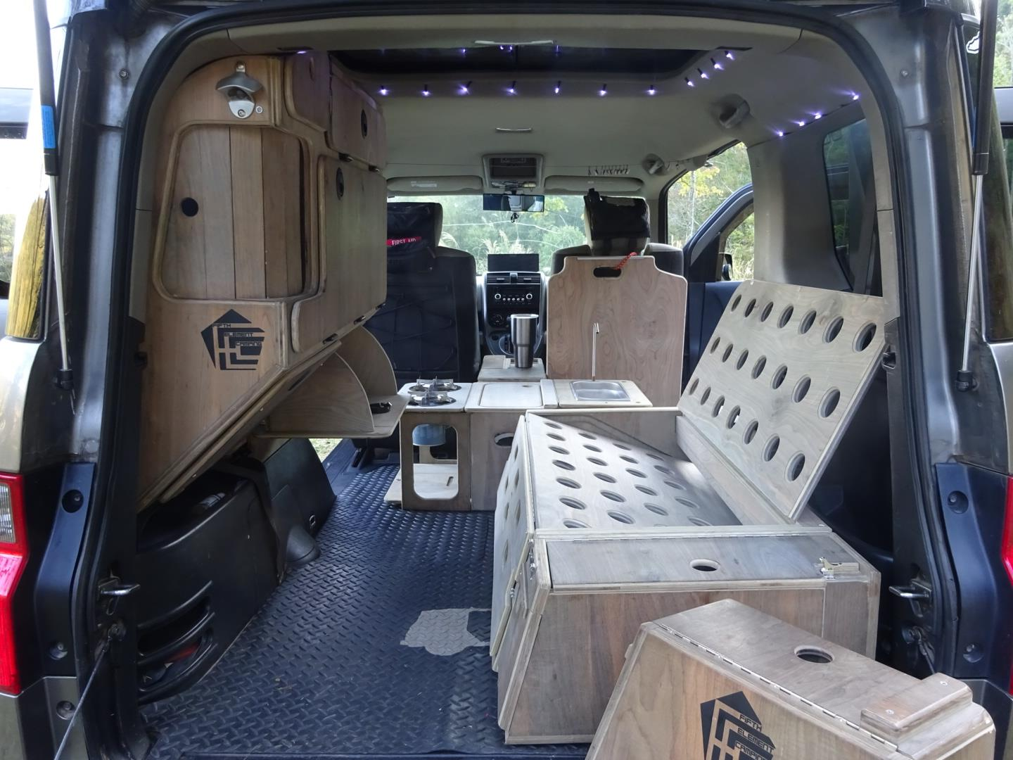 Nick Made His Own Camper From Honda Element Cheaper And More Reliable Than An Old VW Van