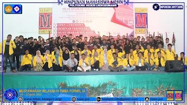 MUSYAWARAH WILAYAH yg ke-IV FORUM MAHASISWA MESIN SE-ACEH 2018 di POLITEKNIK NEGERI LHOKSEUMAWE 16-21 April 2018
