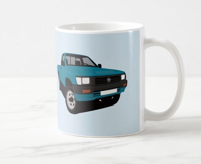 Toyota Hilux lava-auto kahvimukit - automukit