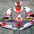 Mẫu sơn tem đấu airbursh Exciter 150 màu trắng đỏ đen [Exciter150_SG2016]