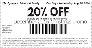free Walgreens coupons december 2016