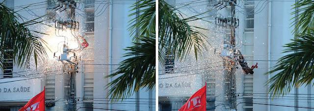 Homem morre eletrocutado em evento com Dilma Rousseff em Aracaju; veja o vídeo