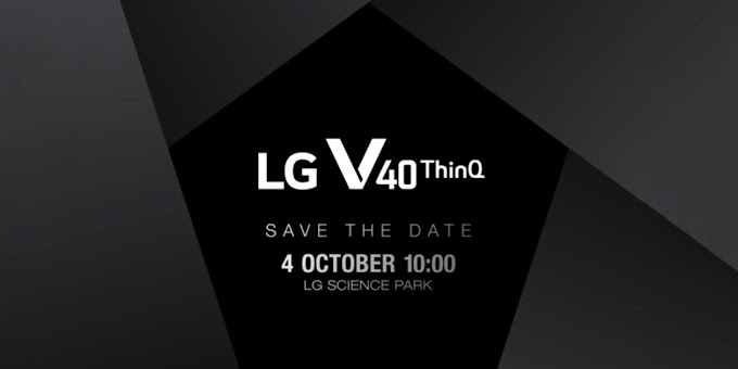 LG V40 ThinQ unveiling scheduled for October 4