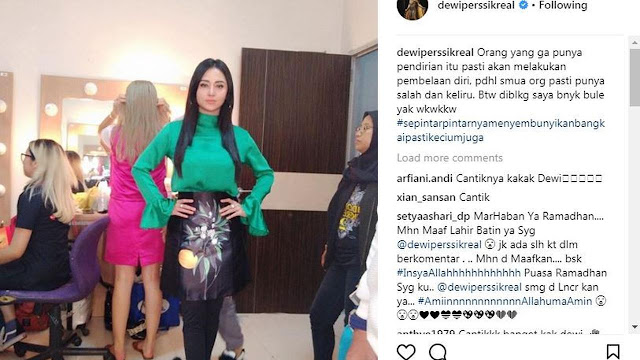 Dewi Perssik Kembali Sindir Suami Melalui Instagram?