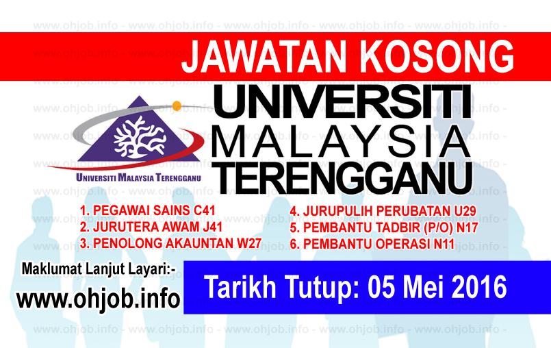 Jawatan Kerja Kosong Universiti Malaysia Terengganu (UMT) logo www.ohjob.info mei 2016
