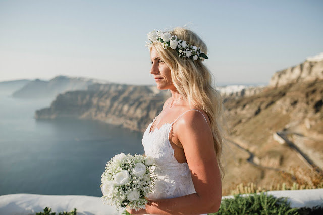 Boho wedding in Santorini