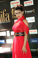 Apoorva in a Stunning Tight Leg Split Sleeveless Red Gown at IIFA Utsavam Awards 53.JPG