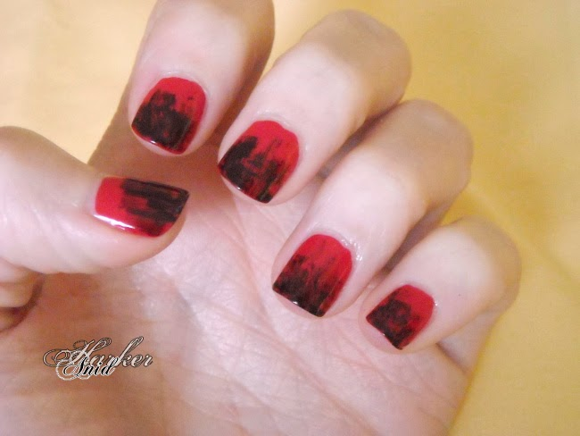 TZK on KILLING ME nail art