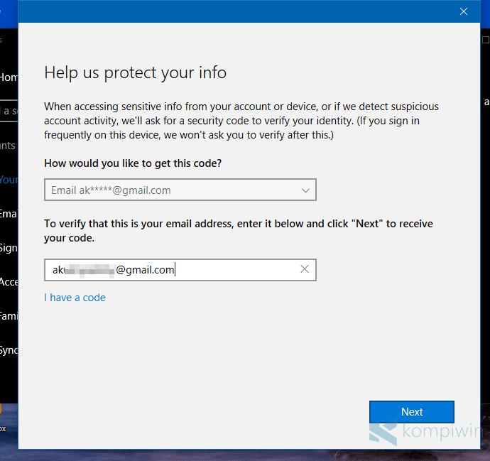 Cara Verifikasi Akun Microsoft di Windows 10 1