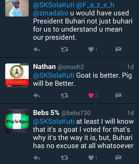 Presidential polls going on at Twitter. See who Buhari is contesting against
