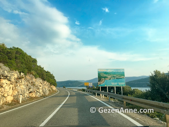 Adriyatik denizi kıyında Bosna toprağı Neum şehri