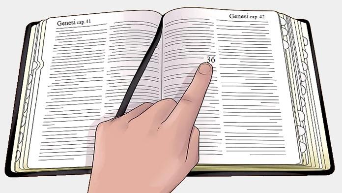 Aprire la Bibbia a caso e trovare risposta