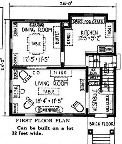 Nice First Floor Sears Van Dorn Image courtesy of Google Books