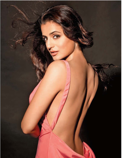Amisha patel showing her back and bra sexy wallpapers